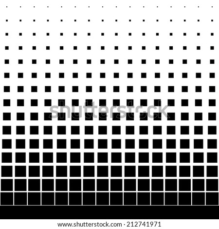 gradient seamless background with black square - stock vector