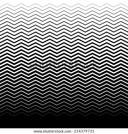 gradient seamless background with black waves - stock vector