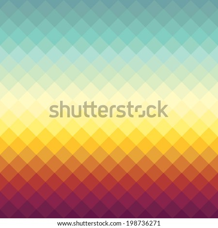 Gradient spectrum background with Sunset Horizon colors - stock vector