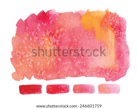Gradient watercolor art hand paint isolated on white background. Vector file EPS10. Jpeg version also available in gallery. - stock vector