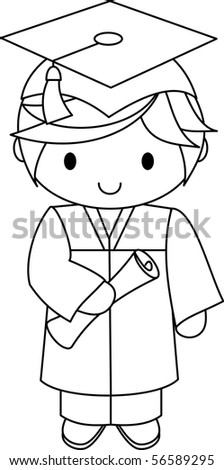 Graduate - boy - stock vector