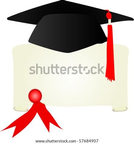 graduation - stock vector