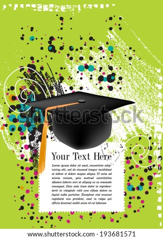 Graduation Cap - stock vector