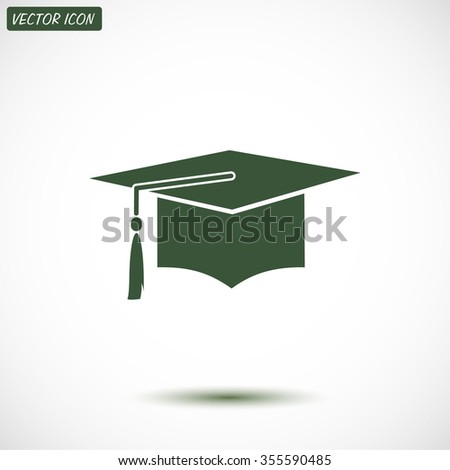 Graduation cap icon. Vector  Eps 10  - stock vector
