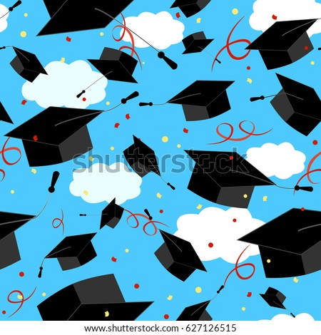 Graduation Caps In Air Stock Images, Royalty-Free Images ...