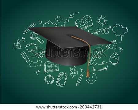 Graduation Concept Vector Illustration - stock vector