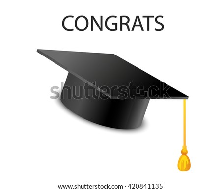 Graduation design over gray background, vector illustration