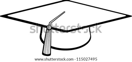 graduation hat - stock vector