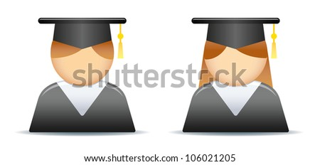 Graduation Icon - stock vector