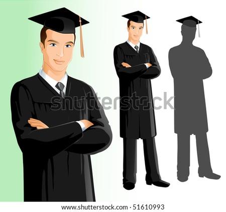 Graduation (Man) - stock vector