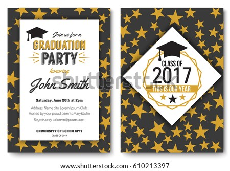 Graduation party vector template invitation traditional stock vector graduation party vector template invitation traditional stock vector 610213397 shutterstock filmwisefo