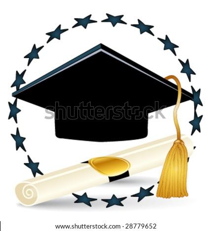 Graduation vector illustration - stock vector