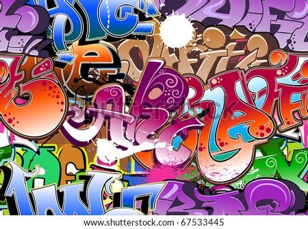 Graffiti - stock vector