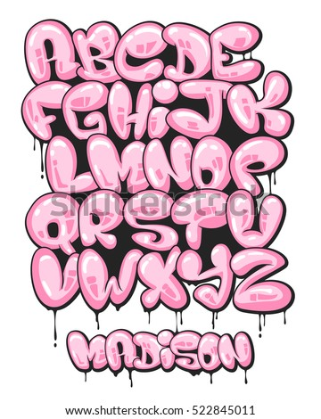 Graffiti Font Stock Images, Royalty-Free Images & Vectors ...