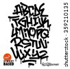 graffiti font - stock vector