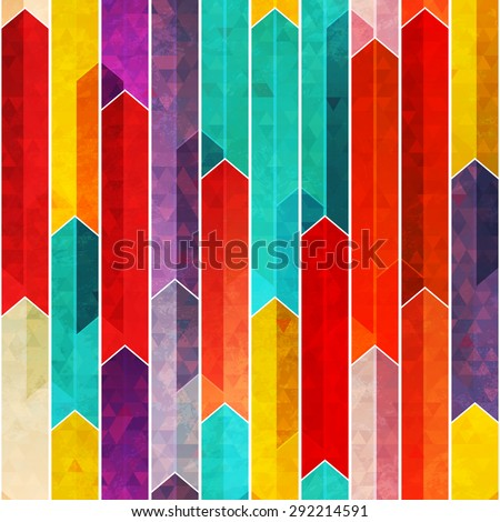 graffiti geometric seamless pattern with grunge effect  - stock vector