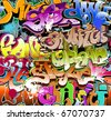 Graffiti seamless background - stock vector