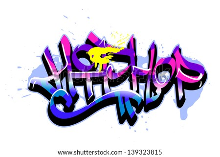 Graffiti vector art urban design element - stock vector