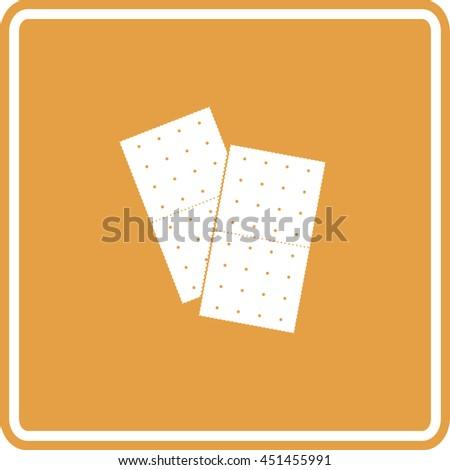 graham crackers sign - stock vector