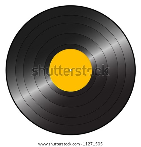 Gramophone record on a white background. Vector illustration