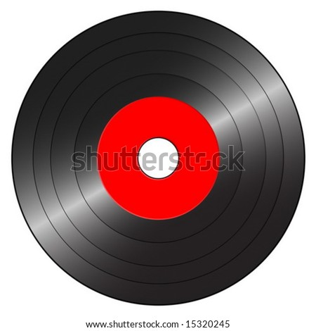 Gramophone record on a white background. Vector illustration.