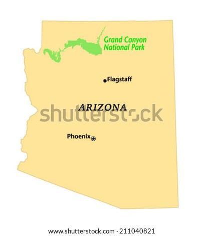 Tucson Arizona Locate Map Stock Vector Shutterstock - Us map from texarkana to grand canyon