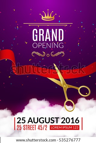 Grand opening invitation card grand opening em vetor stock 535276777 grand opening invitation card grand opening event invitation flyer banner or poster design template stopboris Images