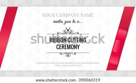 Grand opening celebration stock images royalty free images grand opening invitation card with bows elegant style vector illustration stopboris Images