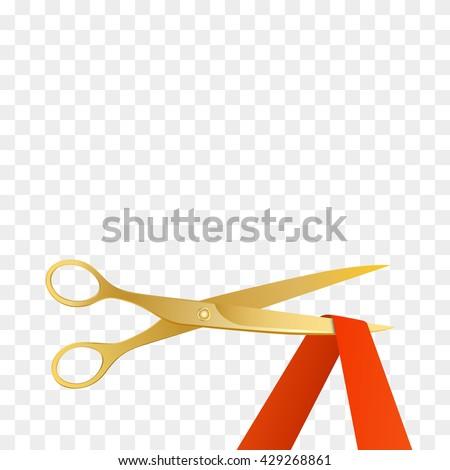 Grand opening invitation gold scissors red stock photo photo grand opening invitation with gold scissors and red ribbon vector stopboris Gallery