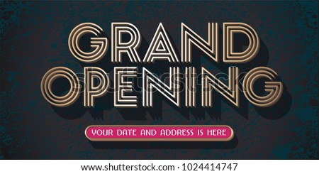 grand opening vector banner illustration template stock vector 2018