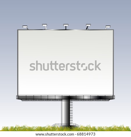 Grand outdoor billboard with room for your text - stock vector