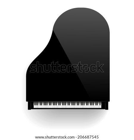 Grand Piano Isolated  - stock vector