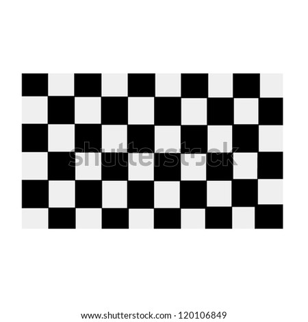 Grand Prix Checkerboard - stock vector