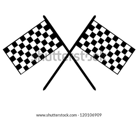 Grand Prix Checkerboard Flags - stock vector