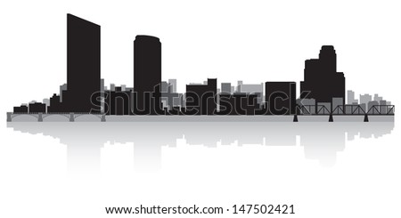 Grand Rapids USA city skyline silhouette vector illustration