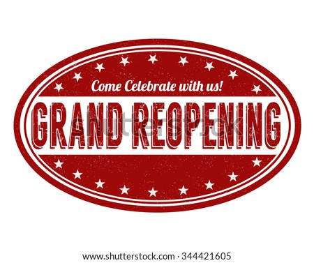 Grand reopening  grunge rubber stamp on white background, vector illustration - stock vector