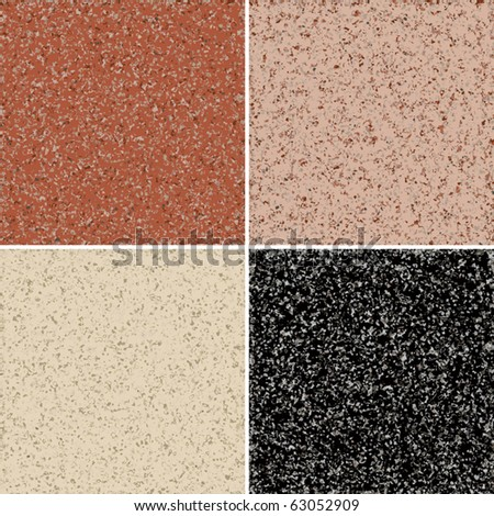 Granite seamless background, available in 4 colors. - stock vector