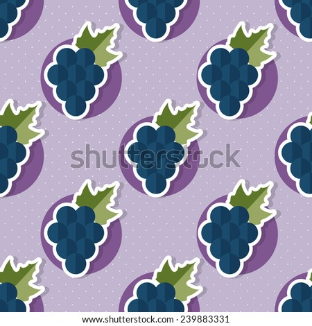 Grape pattern. Seamless texture with ripe grape. Use as a pattern fill - stock vector