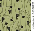 Grape seamless pattern - stock vector