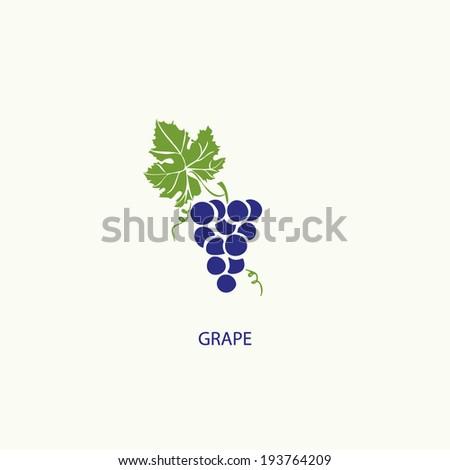 Grape symbol  - stock vector