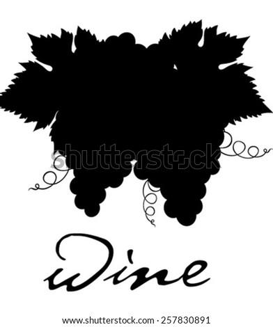grape wine - stock vector
