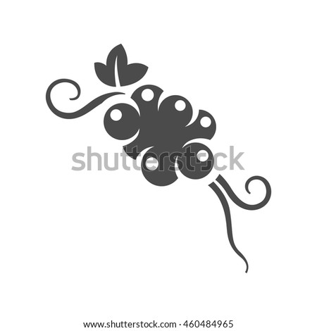 Grapefruit icon in black and white grey single color. - stock vector