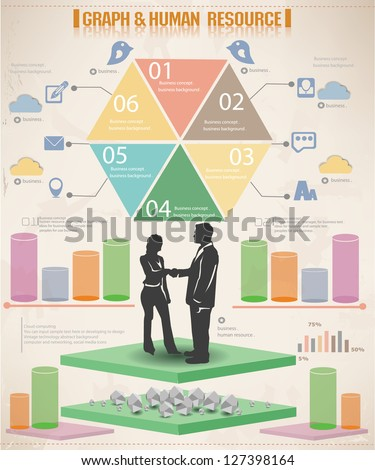 Graph and diagrams,business graphics design,vector