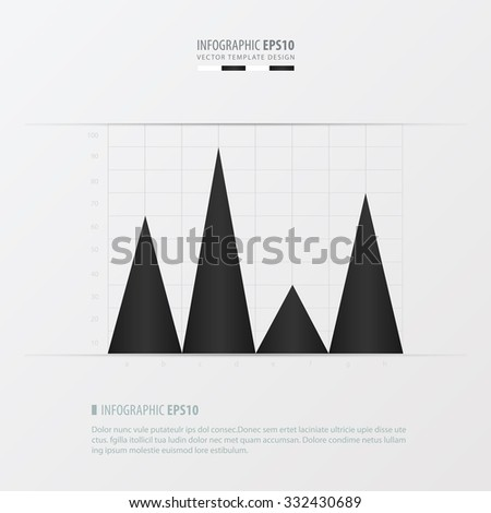 graph and infographic design   black and white color