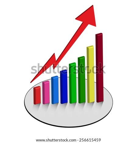 graph chart bar vector graphs business - stock vector