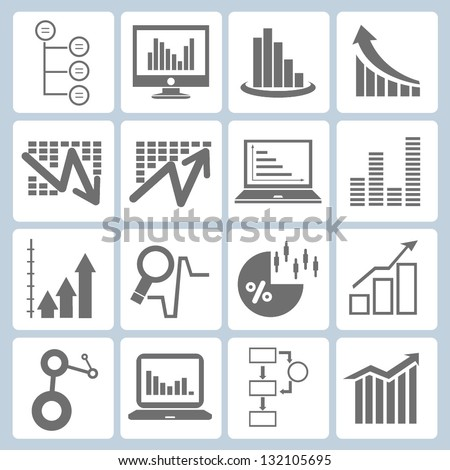 graph, chart set - stock vector