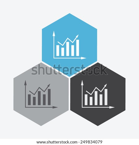 Graph chart sign icon. - stock vector