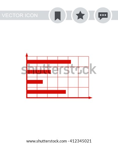 Graph chart sign icon.