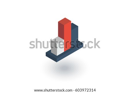 Graph chart statistic diagram isometric flat stock vector 603972314 graph chart statistic diagram isometric flat icon 3d vector colorful illustration pictogram isolated ccuart Image collections