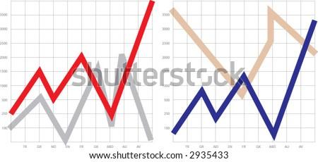 graph, grafik - stock vector